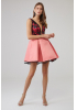 Pink satin sleeveless mini dress