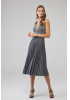 Silver knitted sleeveless midi dress
