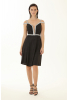Black velvet 13 sleeveless mini dress