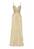 Gold velvet 13 sleeveless maxi dress