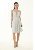 White velvet 13 sleeveless mini dress