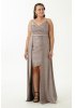 Copper plus size velvet 13 sleeveless maxi dress