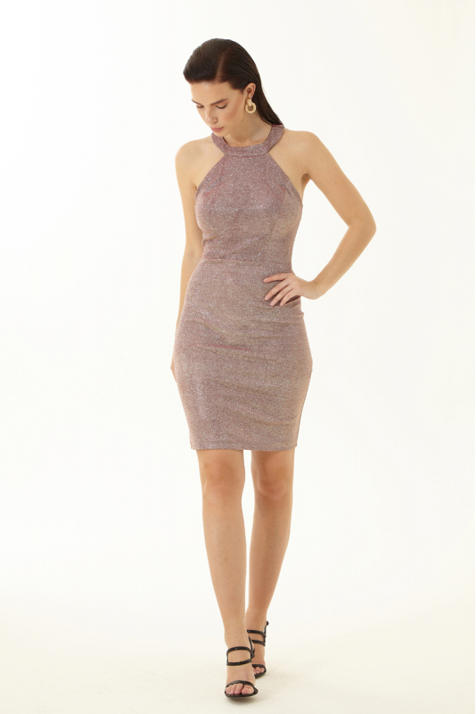 Copper velvet 13 sleeveless mini dress