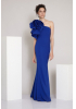 Sax crepe maxi dress