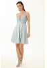 Blue velvet 13 sleeveless mini dress