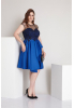 Sax plus size satin sleeveless mini dress