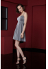 Silver knitted sleeveless mini dress