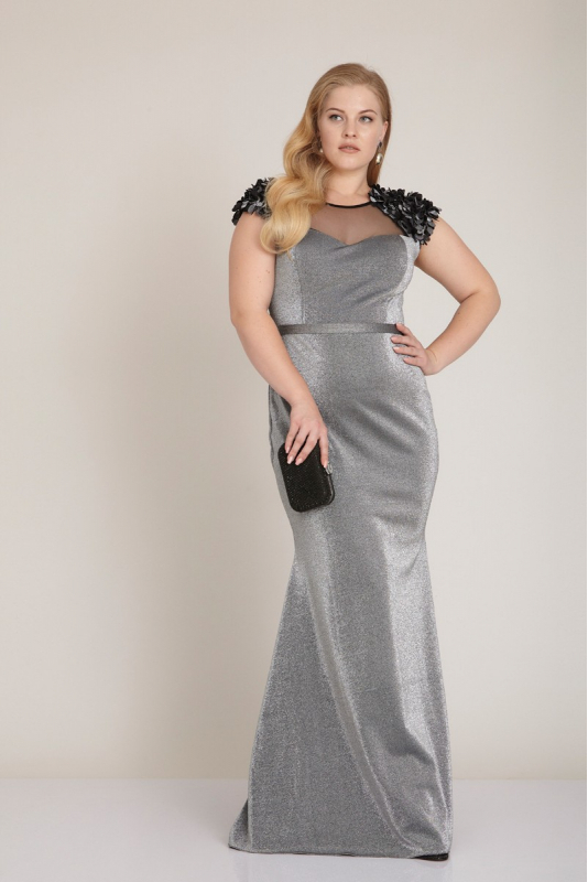 af8647fe084 Wholesale Silver plus size knitted sleeveless maxi dress - Fervente