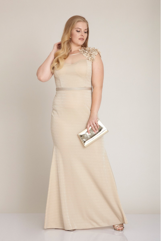 ed19cfa2135 Wholesale Beige plus size knitted sleeveless maxi dress - Fervente