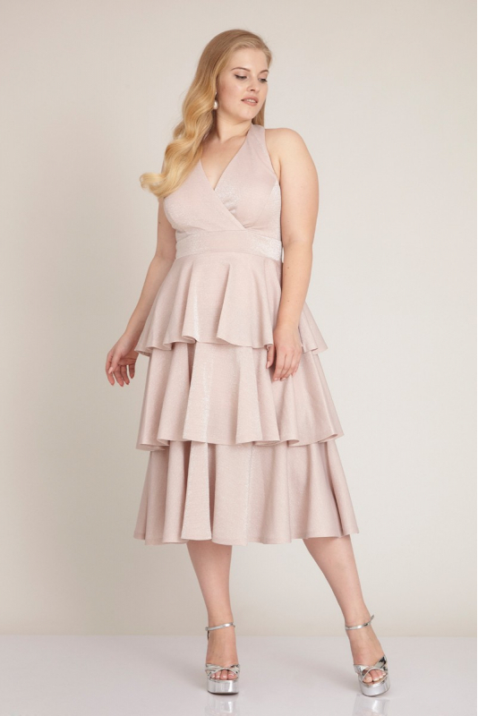 Powder plus size knitted sleeveless midi dress
