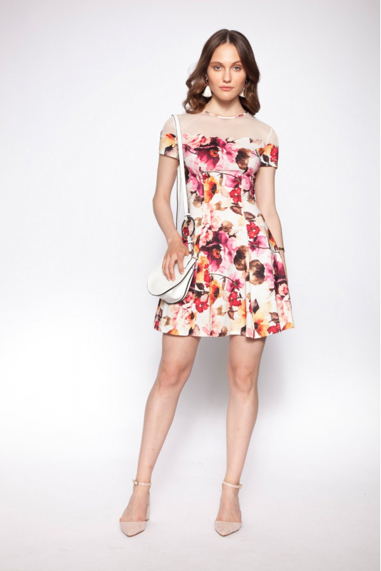 Pattern z38 woven short sleeve mini dress