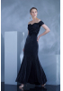 Black knitted short sleeve maxi dress