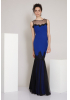 Sax crepe maxi sleeveless dress