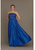 Sax plus size satin strapless maxi dress