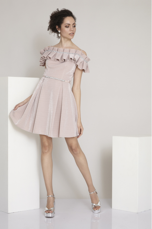 New powder pink dress