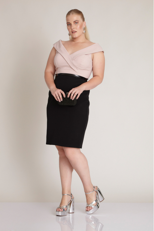Wholesale Powder plus size dress 72394-040 - Fervente