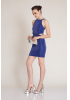 Sax knitted mini sleeveless dress