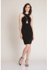 Black knitted mini sleeveless dress