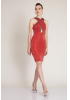 Red knitted mini sleeveless dress