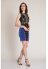 Sax knitted sleeveless mini dress