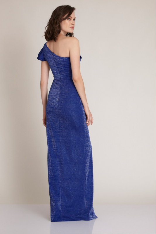 Sax knitted maxi dress