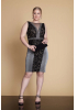 Black plus size knitted mini sleeveless dress