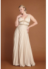 Beige plus size knitted maxi sleeveless dress