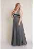 Silver plus size knitted maxi sleeveless dress