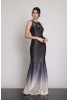 Silver leaf 080 knitted maxi sleeveless dress