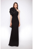 Black crepe maxi dress