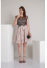 Powder plus size knitted sleeveless mini dress