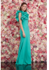 Mint green crepe maxi dress