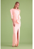 Light pink crepe maxi dress