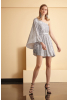 Silver sequined mini short sleeve dress