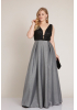 Silver plus size knitted sleeveless maxi dress